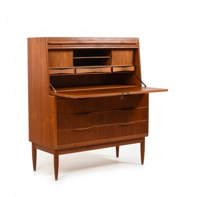 Fine Danish Secretary by Erling Torvits for Klim Møbelfabrik, 1960s