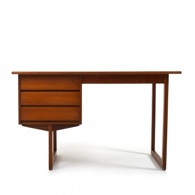 Mid Century Danish Freestanding-Desk in Teak
