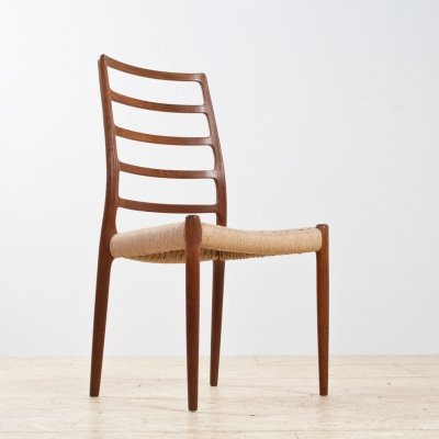 Niels Otto Møller model 82 dining chair in solid teak, 1954