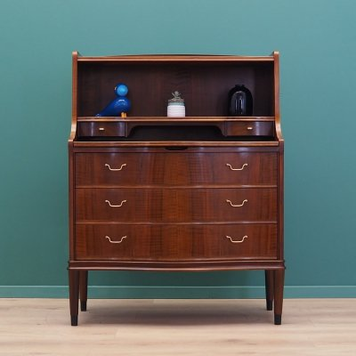 Walnut secretary, Denmark 1960s