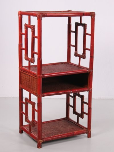 Chinese 19th century tray or room divider cabinet made of bamboo