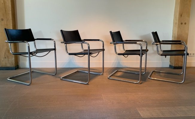 Set of 4 MG5 dining chairs by Centra Studi for Matteo Grassi, 1970s