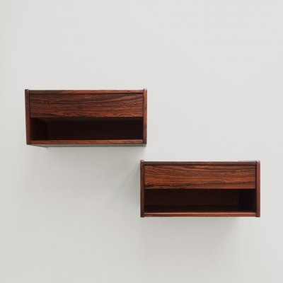 Pair of wall mounted bedside tables, 1960s