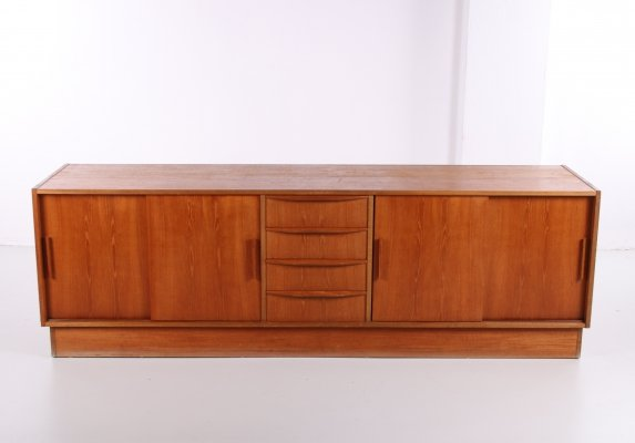 Large Low sideboard in teak, 1960s