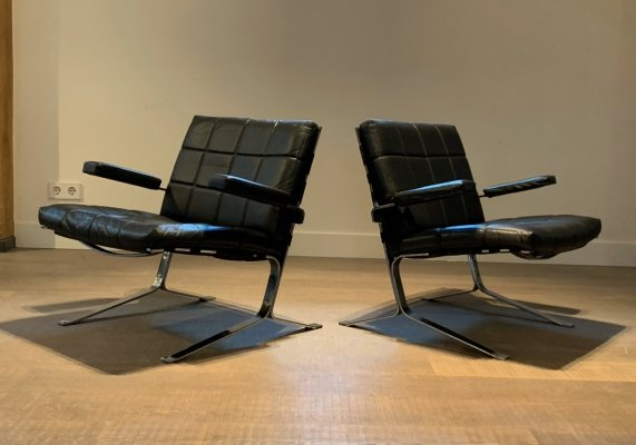 Pair of Joker armchairs by Olivier Mourgue for Airborne, 1960s
