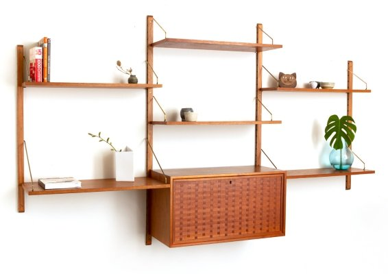 Vintage Danish wall unit by Poul Cadovius for Cado Royal System 1960's