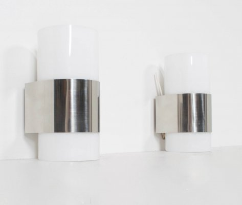 Set of Two Metracrilato Wall Lights from Metalarte, Spain 1980s