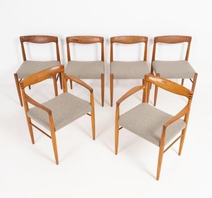 Set of 4 chairs & 2 armchairs by Henry W. Klein for Bramin