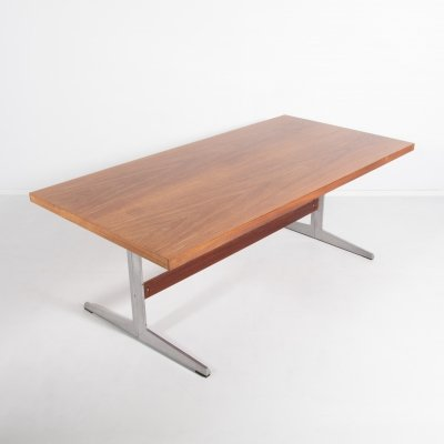 Marius Byrialsen rosewood veneer table for Nipu, Denmark 1970's