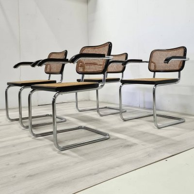 Set of 4 Cesca chairs by Marcel Breuer issued by Pastoe, Netherlands 1970s