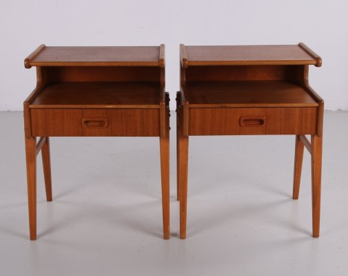 Pair of vintage Danish bedside tables, 1960s