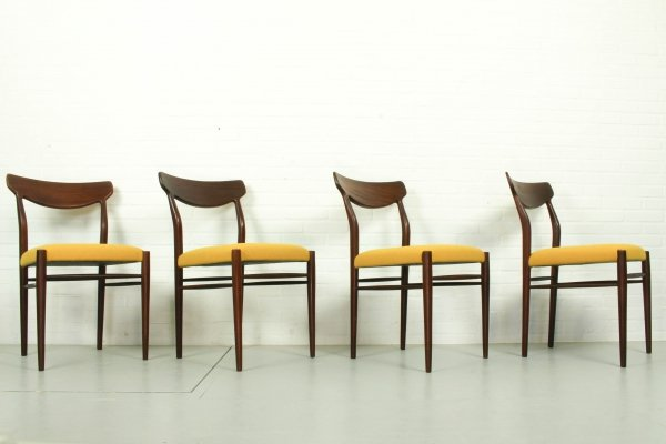 Set of 4 Teak Dining Chairs by Harry Ostergaard, 1950s