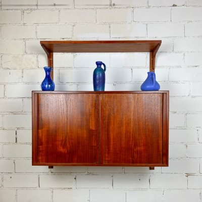 Teak wall unit by Rud Thygesen & Johnny Sørensen for HG Furniture, 1960s