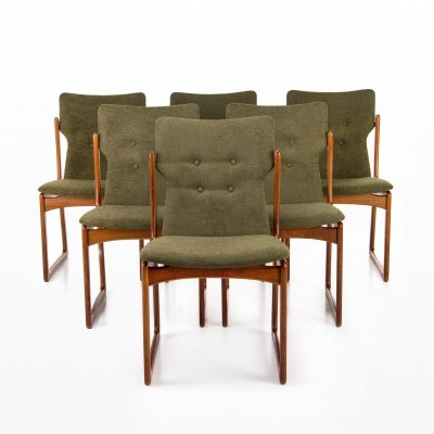 Set of 6 Vamdrup Stolefabrik dining chairs, 1960s