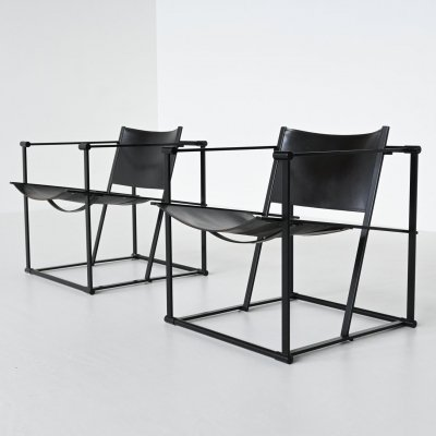 Radboud van Beekum FM61 cubic lounge chairs by Pastoe, The Netherlands 1980