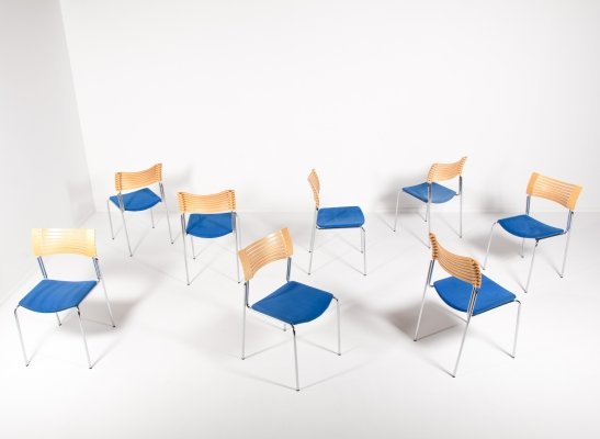 Set of 8 Danish design chairs from Magnus Olesen