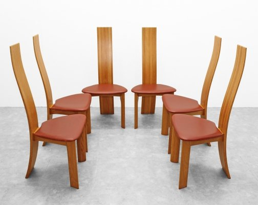 Set of 6 chairs model IRIS by Van den Berghe Pauvers, 1980s