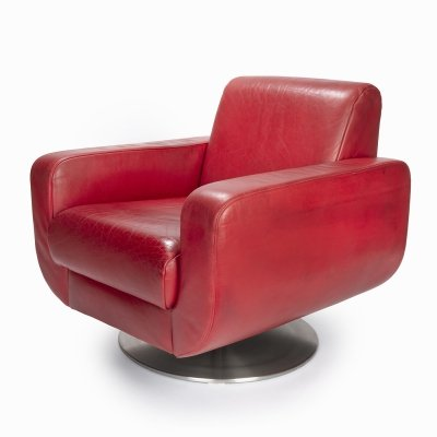 Red KOINOR leather armchair, 1990s