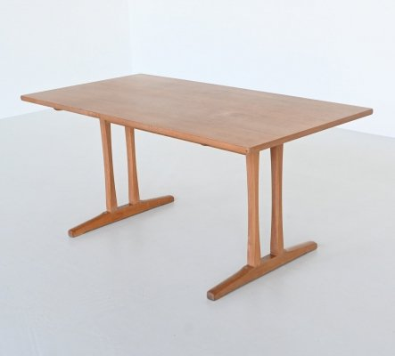 Borge Mogensen Shaker C18 soaked oak dining table by FDB Mobler, Denmark 1947