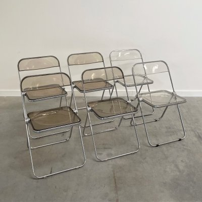 Set of 6 Plia Folding Chairs by Castelli, Italy 1970s