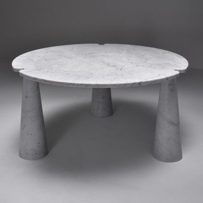 Angelo Mangiarotti 'Eros' Round Marble Dining Table, 1970s
