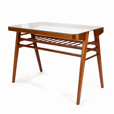 Wooden coffee table by František Jirák for Tatra Nabytok Pravenec, 1960s