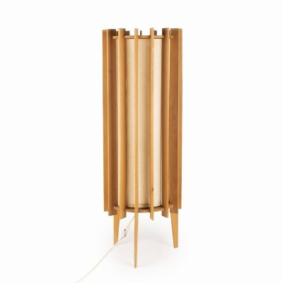 Standing lamp with wooden frame, 1960s