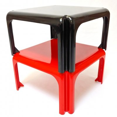 Space Age Design 'Elena' Tables by Vico Magistretti for Metra, Italy 1966