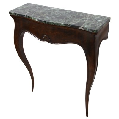 Small Italian 1920s Console Table With A Marble Top