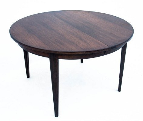 Round rosewood table by Omann Jun, Denmark 1960s