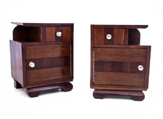 Pair of Bedside tables, Poland 1950s