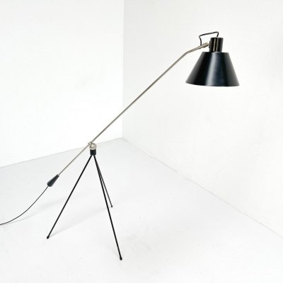 Magneto floor lamp by H. Fillekes, 1950s