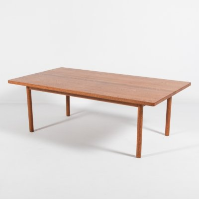 Danish Modern solid oak coffee table, 1960's