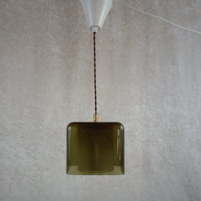 Square pendant by Carl Fagerlund for Orrefors, 1960's
