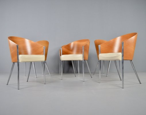 Set of 6 Driade 'King Costes' chairs by Philippe Starck, 1990s