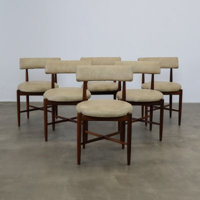 Set of 6 G-plan chairs, 1960s