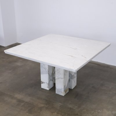 Marble dining table, 1980s