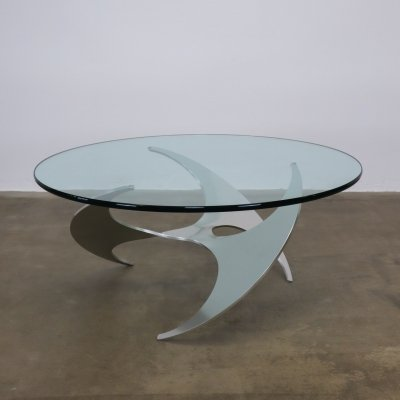 Propeller coffee table by Knut Hesterberg, 1960s