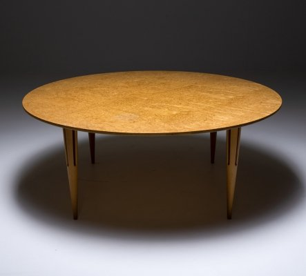 Bruno Mathsson Occasional Table in Burl for Mathsson International, 1960's