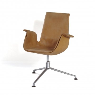 Beige Tulip Swivel Chair by Kastholm & Fabricius for Kill International, 1960s