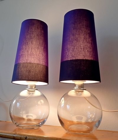 Pair of table lights, 1990s