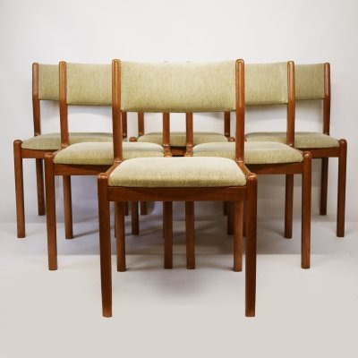 Mid-Century Danish Upholstered Teak Dining Chairs from J.L. Moller, 1960s