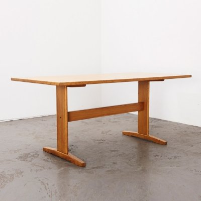 Farstrup Oak Shaker Dining Table, Denmark 1960s