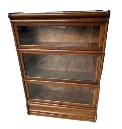 Globe Wernicke rare vintage barristers 3 bookcase shelves library, 1920s