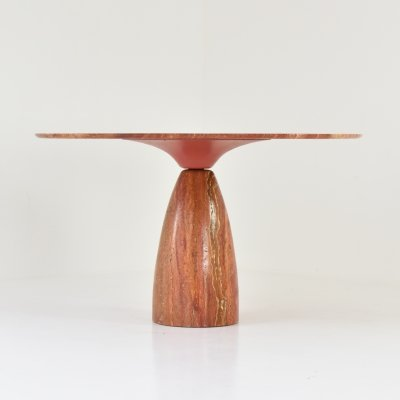 Limited 'Finale' dining table in travertine by Peter Draenert, Germany 1970's