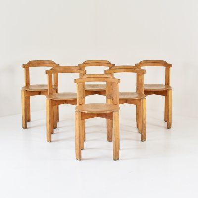 Set of 6 Modernist oak chairs, 1950's