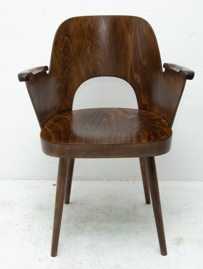 Bentwood writing desk armchair No. 1 by Radomír Hofman for TON, 1960s