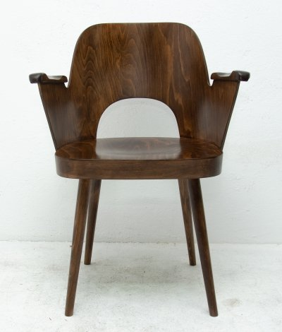 Bentwood No. 2 writing desk armchair by Radomír Hofman for TON, 1960s