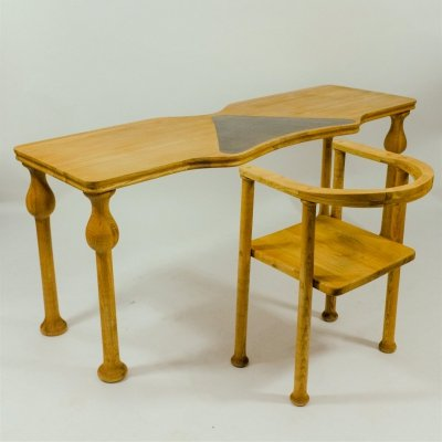 Postmodern desk set, Italy 1980's