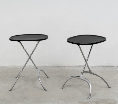 Pair of Kartell 'Leopoldo' occasional & foldable tables by Citterio & Löw, 1990s